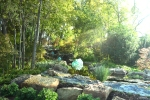 a serene waterfall