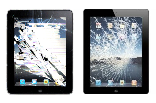 broken ipad glass